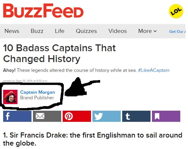 BuzzFeed captain morgan native advertising