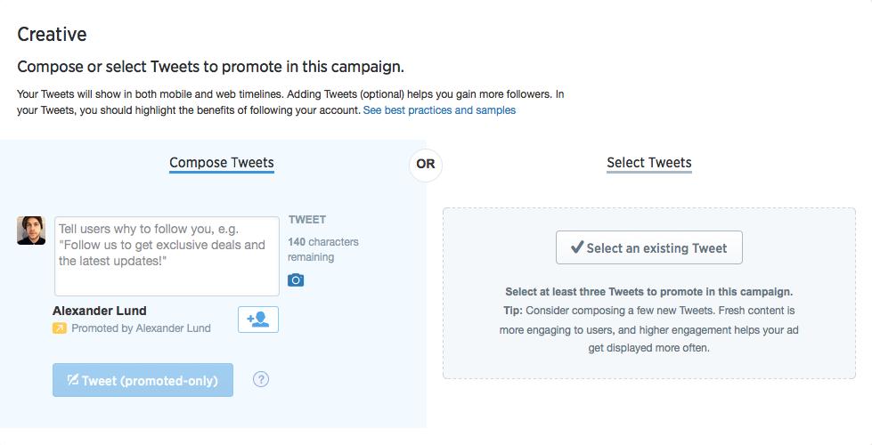 Promoting a tweet