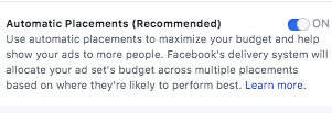 Automatic audience for a Facebook sponsored post