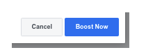Screen Shot of cancel/boost now for your Facebook sponsored post