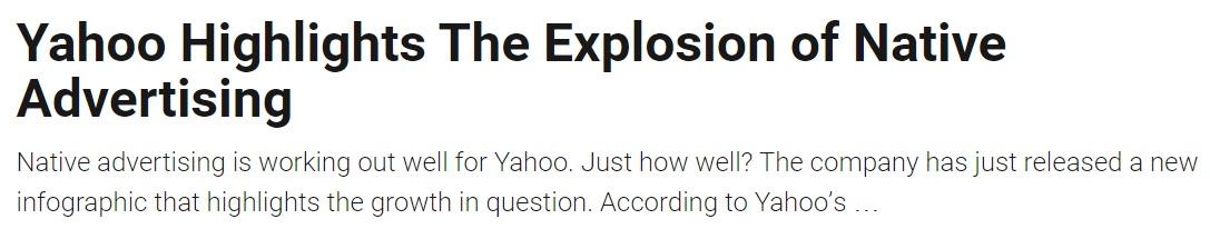 Yahoo native