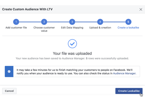 Figure: Creating Lookalike Audiences to use in Native Social Campaigns